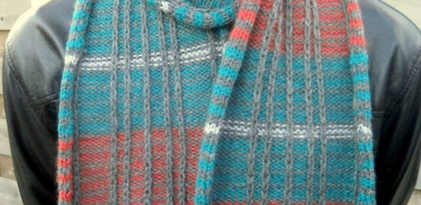 Striped Scarf Knitting Pattern