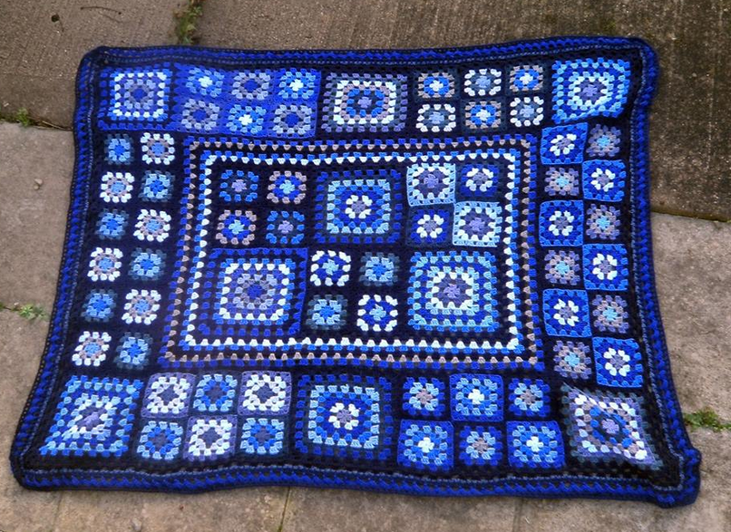 Blue leftovers and basic squares