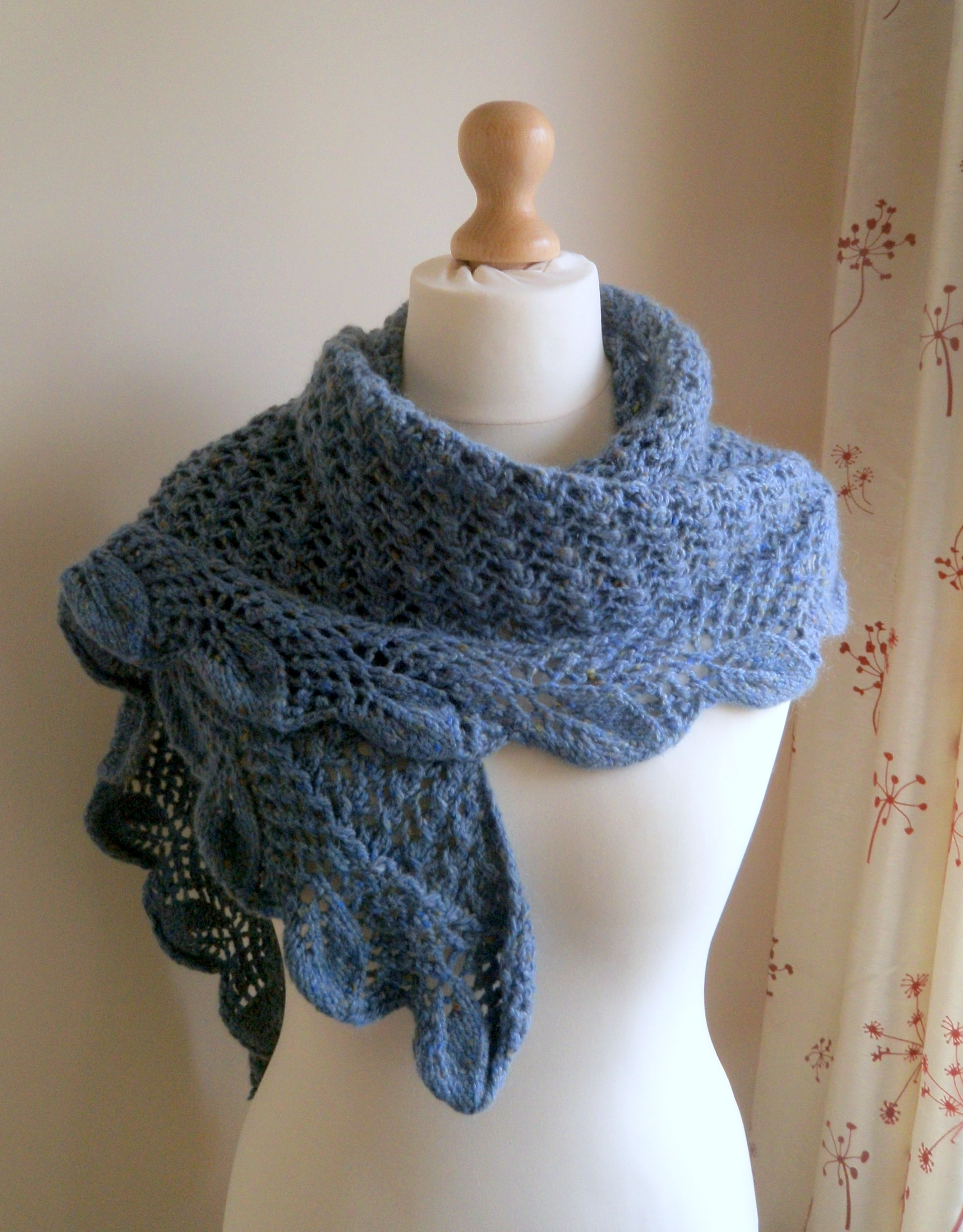 Falling Leaves Shawl Knitting Pattern