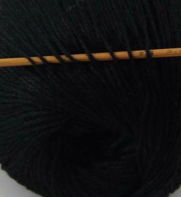 cashmere fingering yarn black 611