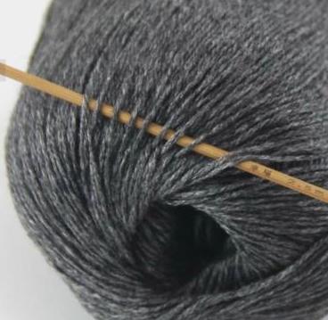cashmere fingering yarn charcoal grey 607
