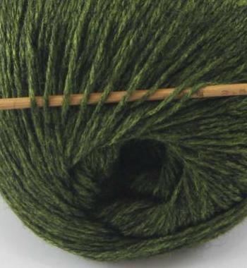 cashmere fingering yarn dark olive 609