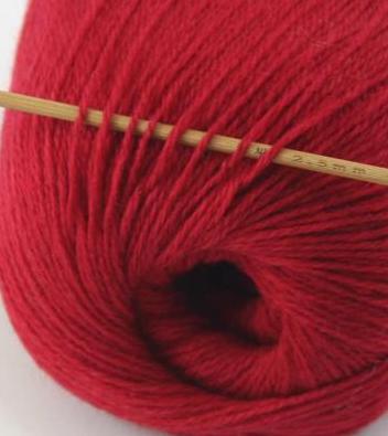 cashmere fingering yarn dark red 608