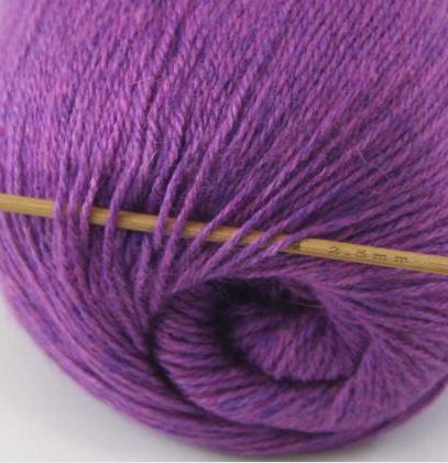 cashmere fingering yarn dark violet 623