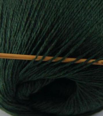 cashmere fingering yarn hunter green 620