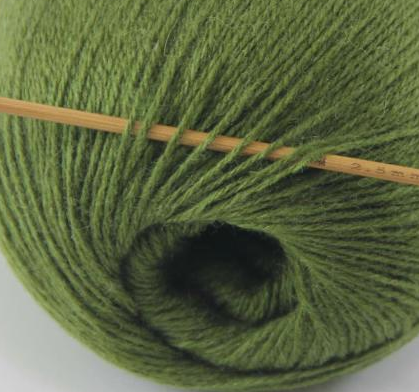 cashmere fingering yarn olive green 615
