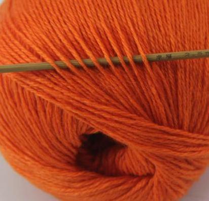 cashmere fingering yarn orange 625