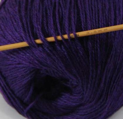 cashmere fingering yarn purple 621