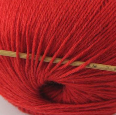 cashmere fingering yarn red 603