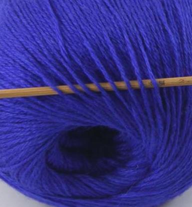 cashmere fingering yarn royal blue 618