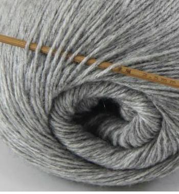 cashmere fingering yarn silver grey 602