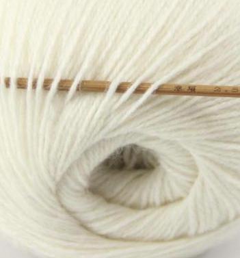 cashmere fingering yarn white 601