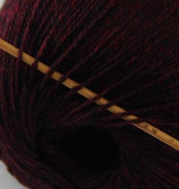 cashmere fingering yarn wine back