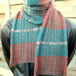 Reversible Striped Scarf
