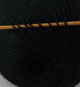 tn_cashmere fingering yarn black 611