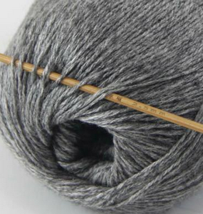 tn_cashmere fingering yarn dark grey 606