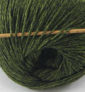 tn_cashmere fingering yarn dark olive 609