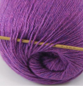 tn_cashmere fingering yarn dark violet 623