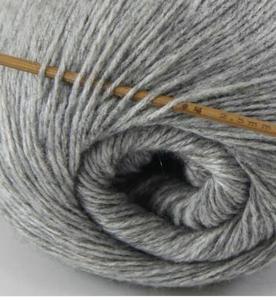 tn_cashmere fingering yarn silver grey 602