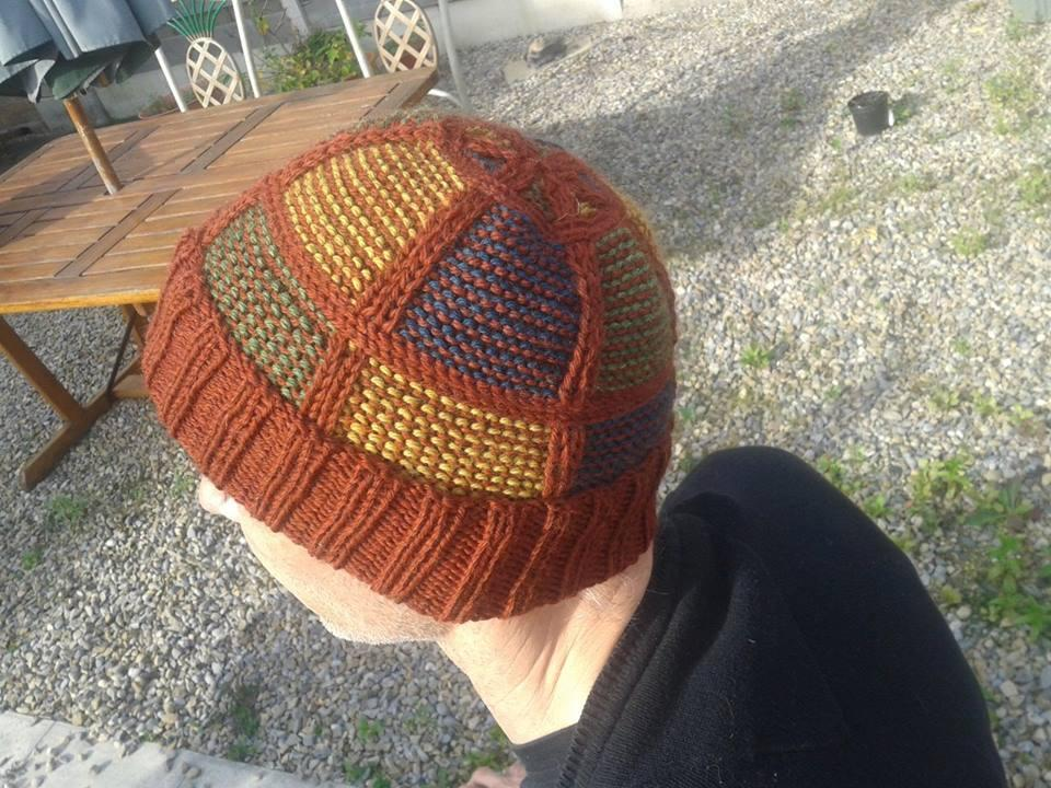 Plaid Checkered Hat (Knitting Pattern)