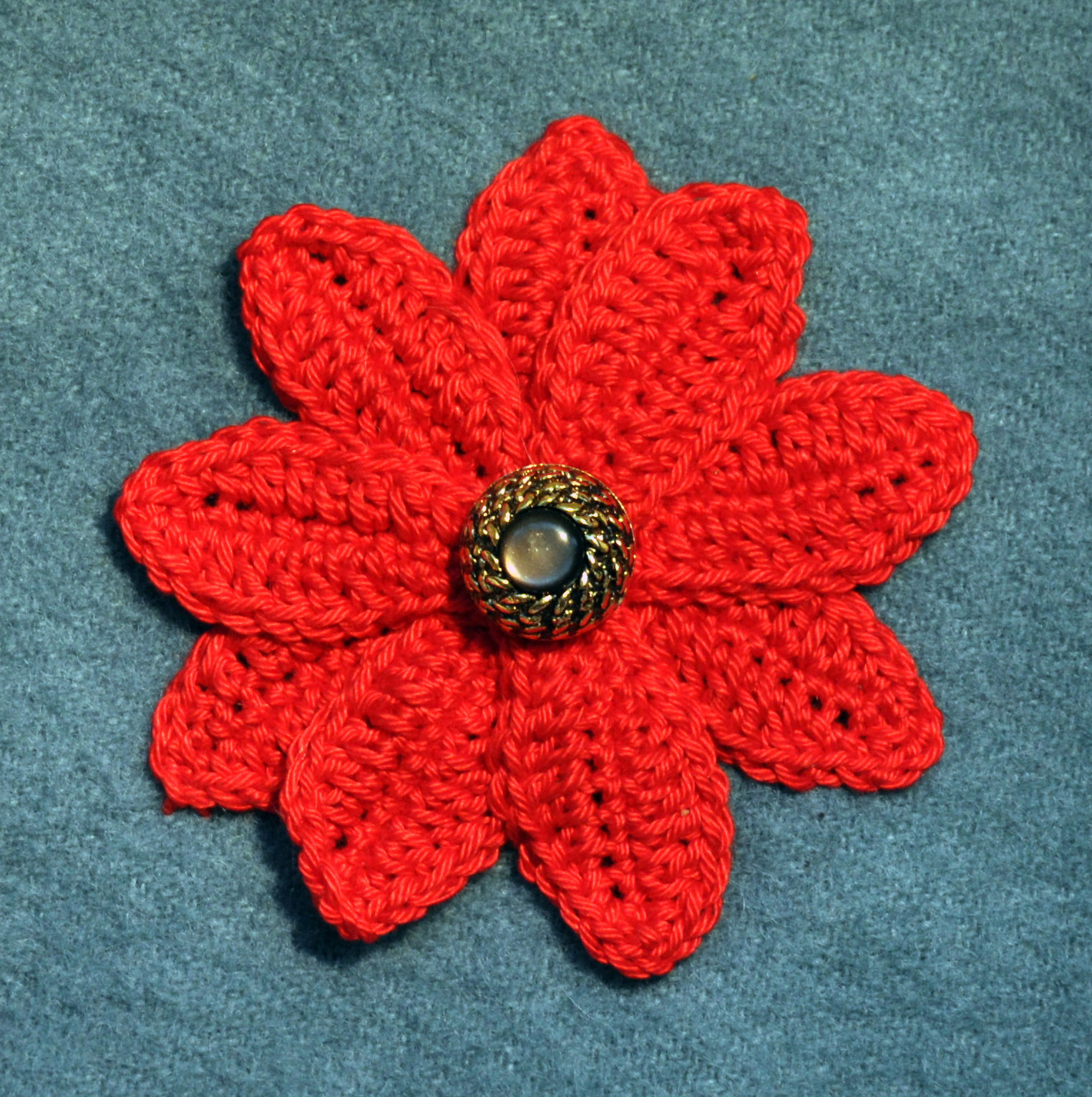 crochet christmas applique