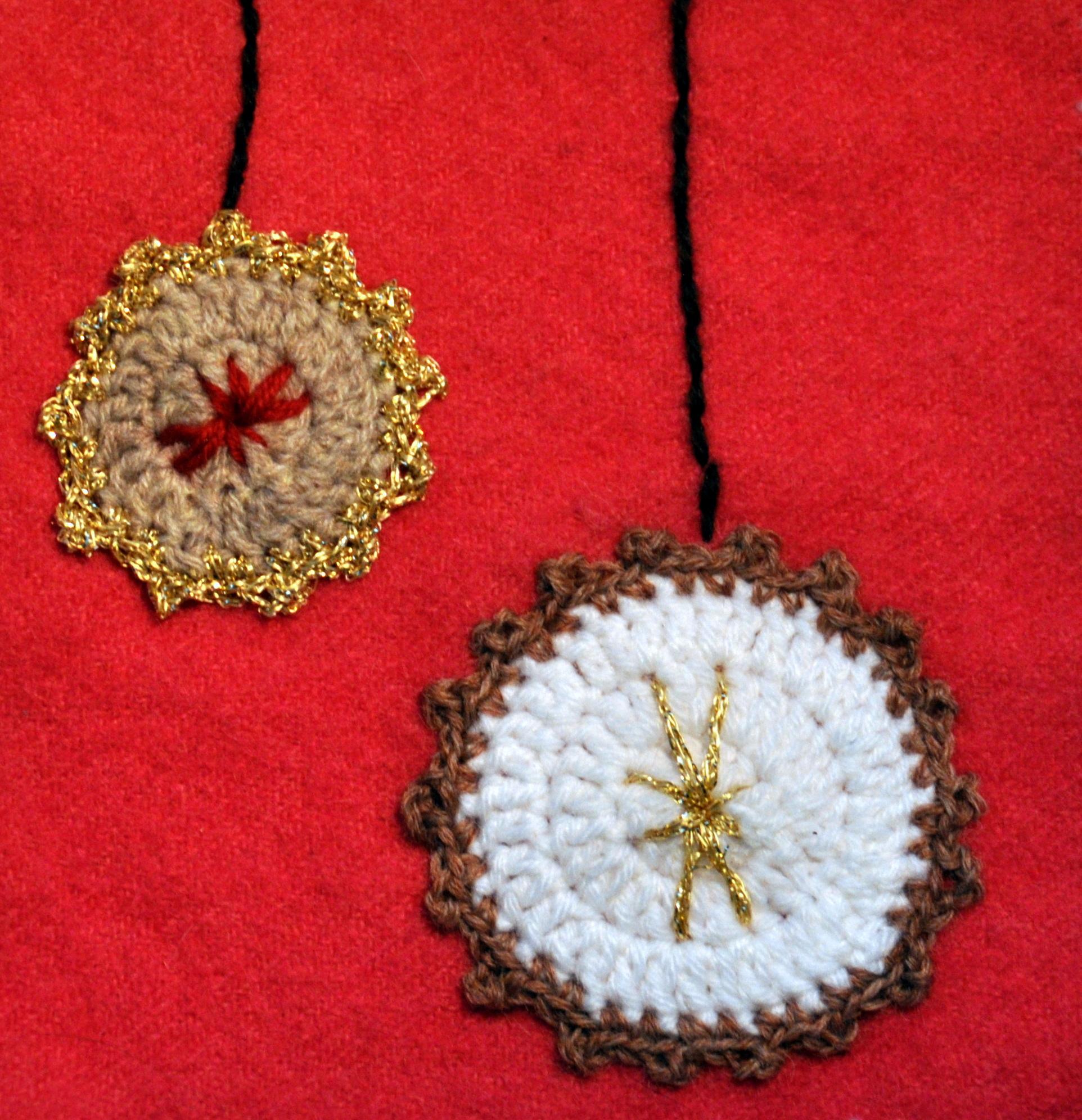 crochet christmas applique